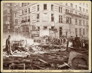 From corner of Common (about 12:20) Hotel Touraine under construction (Boylston Street explosion)