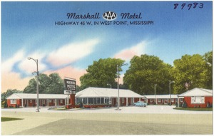 Marshall Motel, Highway 45 W. In West Point, Mississippi