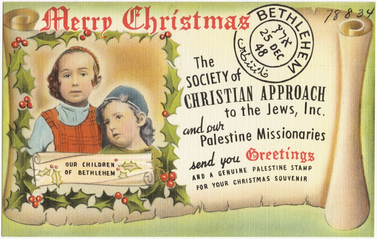 Merry Christmas. The Society of Christian Approach to the Jews, Inc ...