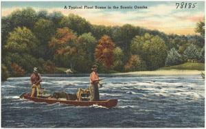 A typical float scene in the scenic Ozarks