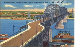MacArthur Bridge across Mississippi from St. Louis to East St. Louis, Ill.