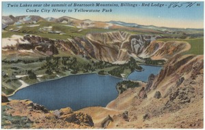 Twin Lakes near the summit of Beartooth Mountains, Billings - Red Lodge - Cooke City Hiway to Yellowstone Park