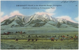 Emigrant Peak in the Absaroka Range, Livingston - Gardiner entrance to Yellowstone Park
