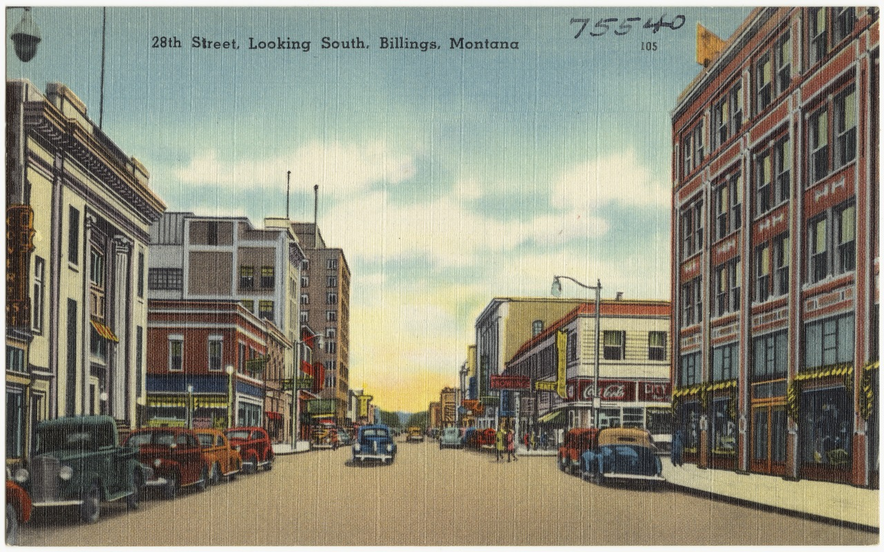 28th Street, looking south, Billings, Montana