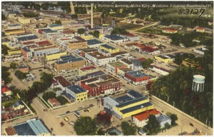 Air view of business section, Miles City, Montana, looking southeast 121