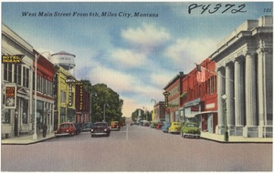West Main Street from 6th, Miles City, Montana
