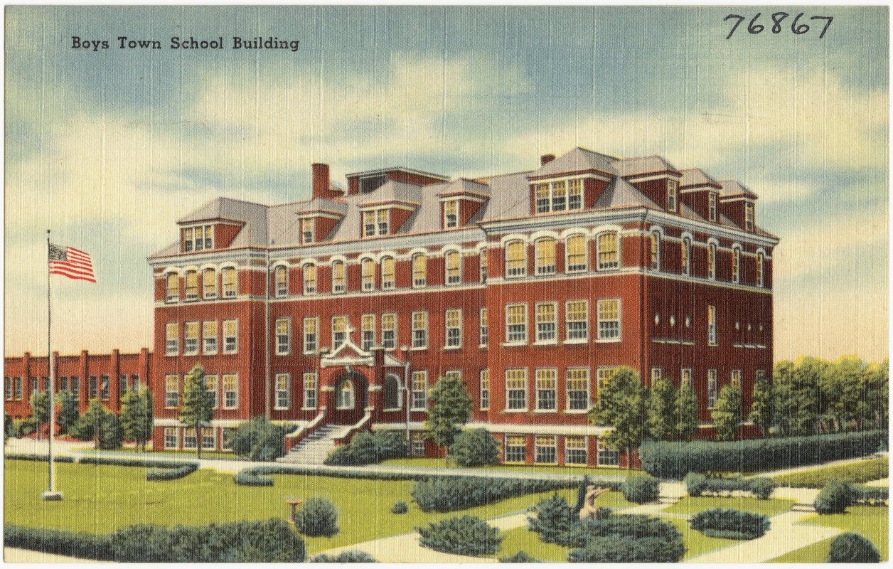 boys town school building digital commonwealth