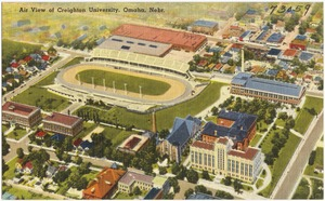 Air view of Creighton University, Omaha, Nebr.