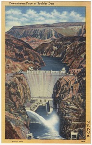 Downstream face of Boulder Dam