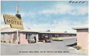The beautiful Yucca Motel, 1727 So. Fifth St., Las Vegas, Nevada