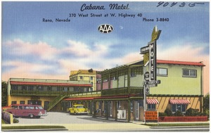 Cabana Motel, 370 West Street at W. Highway 40, Reno, Nevada