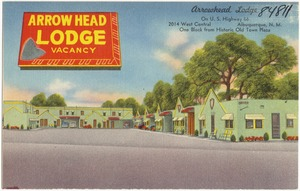 Arrowhead Lodge, on Highway 66, 2014 West Central, Albuquerque, New Mexico, one block from historic Old Town Plaza