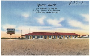 Yucca Motel, on Highways 80 and 86, in city limits -- west entrance, Lordsburg, New Mexico