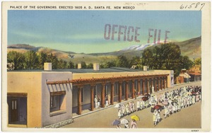Palace of the Governors, erected 1605 A.D., Santa Fe, New Mexico