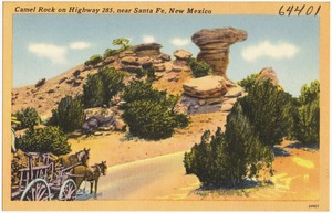 Camel Rock on Highway 285, near Santa Fe, New Mexico