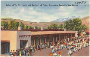 Palace of the Governors and Our Lady of Victory Procession, Santa Fe, New Mexico