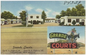 Grande Courts, on U.S. Highway 66 (near U.S. Highway 54), Tucumcari, New Mexico