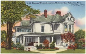 A-66. Thomas Wolfe Memorial, 48 Spruce St., Asheville, N. C.