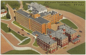 A-72. Airplane view of Memorial Mission Hospital, Asheville, N. C.