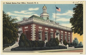 C-7. United States Post Office, Concord, N. C.