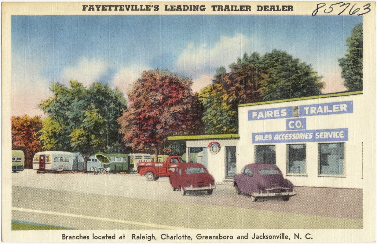 Faires Trailer Co., Fayetteville's leading trailer dealer, branches located at Charlotte, Greensboro, Raleigh and Morehead City