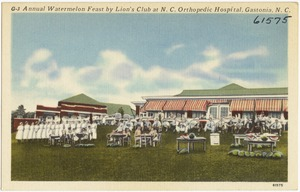 Annual Watermelon Feast by Lion's Club at N. C. O. Orthopedic Hospital, Gastonia, N. C.