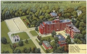 Gaston Memorial Hospital and grounds, Gastonia, N.C.
