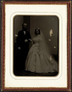 B.J. Lang, Margaret Burrage wedding portrait