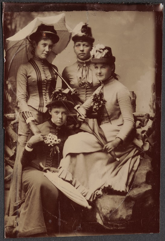 Four women with parasols