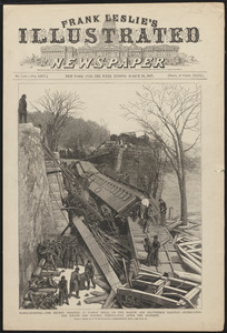 Massachusetts - the recent disaster at Forest Hills, on the Boston and Providence Railway - extricating the killed and injured immediately after the accident