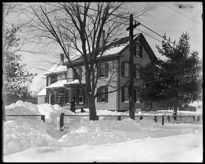 H. W. Sheldon house in snow storm