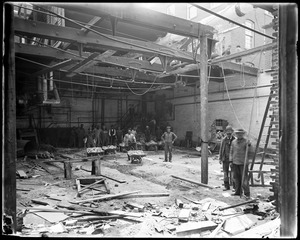 Interior of old boiler house, tearing out