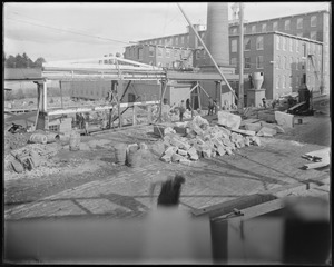 Boiler house and middle ell construction