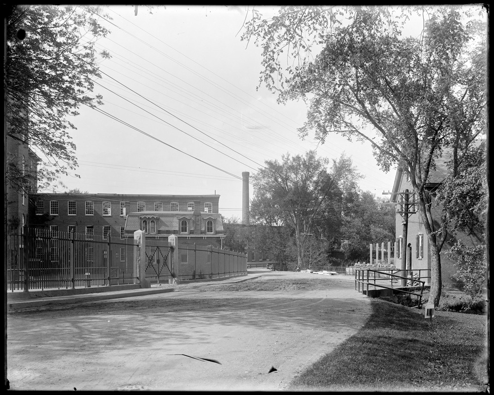 Street in front of mill before Macadamizing