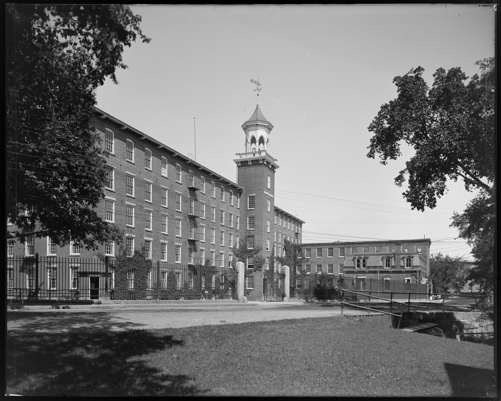 Rear of mill from cove before addition of new dye house and middle ell