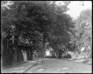 Elm Street from lower end showing storehouse