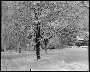 Mr. Clark's house, front, snow view