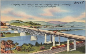 Allegheny River Bridge near the Allegheny Valley Interchange on the Pennsylvania Turnpike