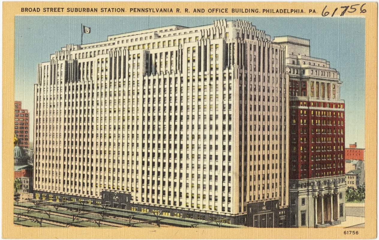Broad Street Suburban Station Pennsylvania R. R. and office building ...