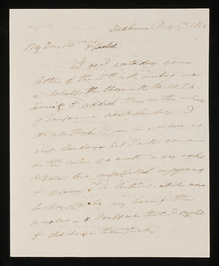 Letters from Edmund Quincy, Dedham, to Mrs. Hannah Cranch Bond Fifield, 1842 Aug 17 and 1843 Jul 11