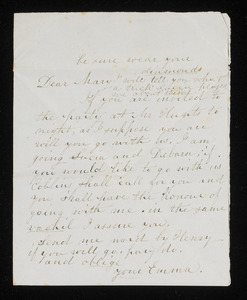 Letter from Emma Weston to Mary Sanborn Fifield, 1838 or 1839