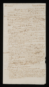 Draft letter from Cotton Tufts, Weymouth, to Mrs. Adams, 24 Feb 1800