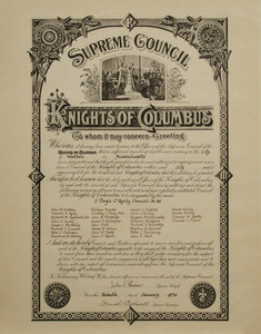 Charter for Council Number 85, Westborough, Massachusetts