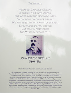 John Boyle O'Reilly memorial plaque