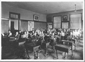 Classroom photograph from the Harvey Building
