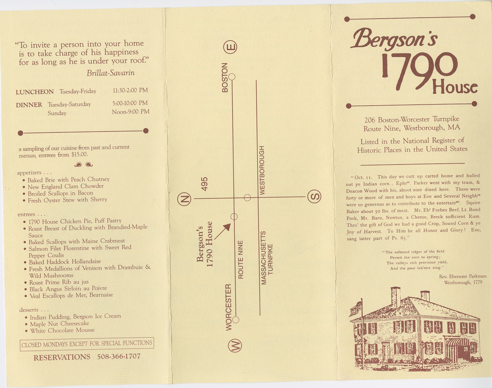 Bergson's 1790 House trifold