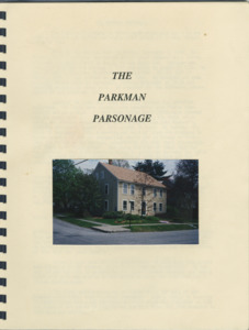 The Parkman Parsonage