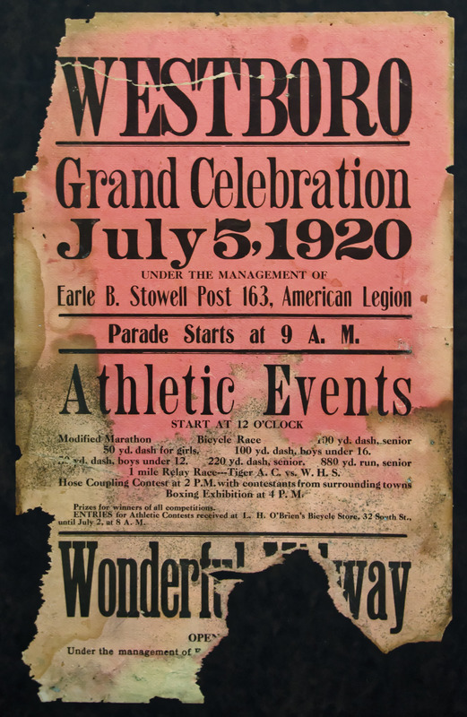 Westborough Recreation Field Day poster