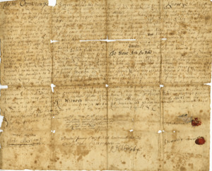 Merriam family deed for land in Grafton