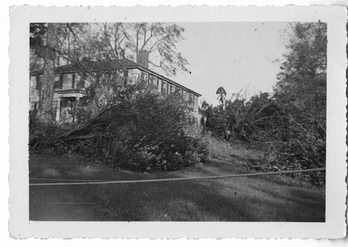 89 West Main Street after the 1938 hurricane